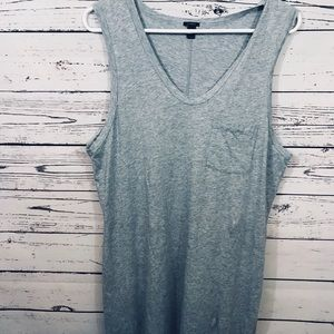 J Crew sleeveless lightweight grey dress - large